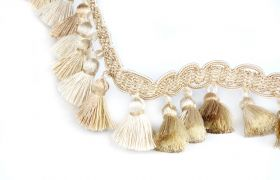 FRĘDZLE BAROQUE BRAID TASSEL FRINGE AT.557 B Marzipan