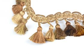 FRĘDZLE BAROQUE BRAID TASSEL FRINGE AT.557 B Gold