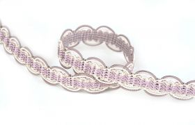 TAŚMY BAROQUE BRAIDED TAPE AG.387E Crystal