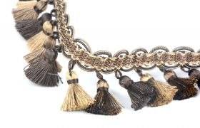 FRĘDZLE BAROQUE BRAID TASSEL FRINGE AT.557 B Toffee
