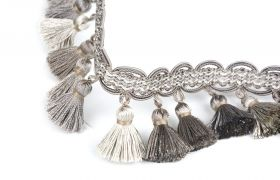 FRĘDZLE BAROQUE BRAID TASSEL FRINGE AT.557 B Aluminium
