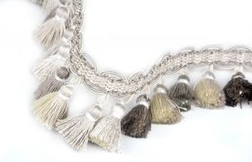 FRĘDZLE BAROQUE BRAID TASSEL FRINGE AT.557 B Silver