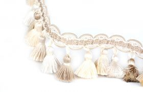 FRĘDZLE BAROQUE BRAID TASSEL FRINGE AT.557 B Linen