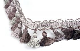 FRĘDZLE BAROQUE BRAID TASSEL FRINGE AT.557 B Aubergine