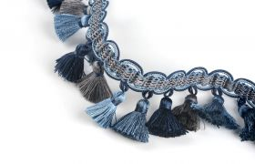 FRĘDZLE BAROQUE BRAID TASSEL FRINGE AT.557 B Marine