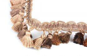 FRĘDZLE BAROQUE BRAID TASSEL FRINGE AT.557 B Butternut