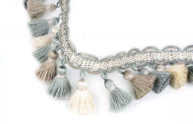 FRĘDZLE BAROQUE BRAID TASSEL FRINGE AT.557 B Mineral